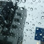 水滴と車窓