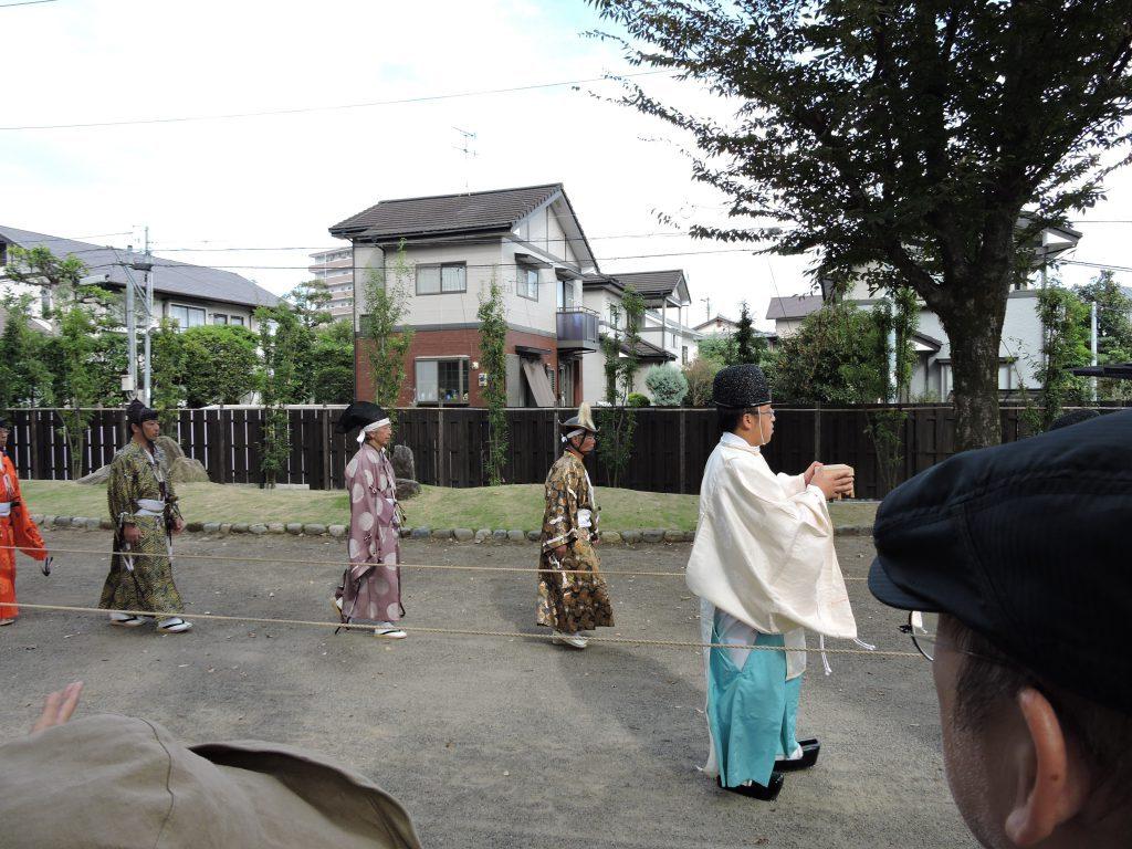 出水神社・武田流騎射流鏑馬
