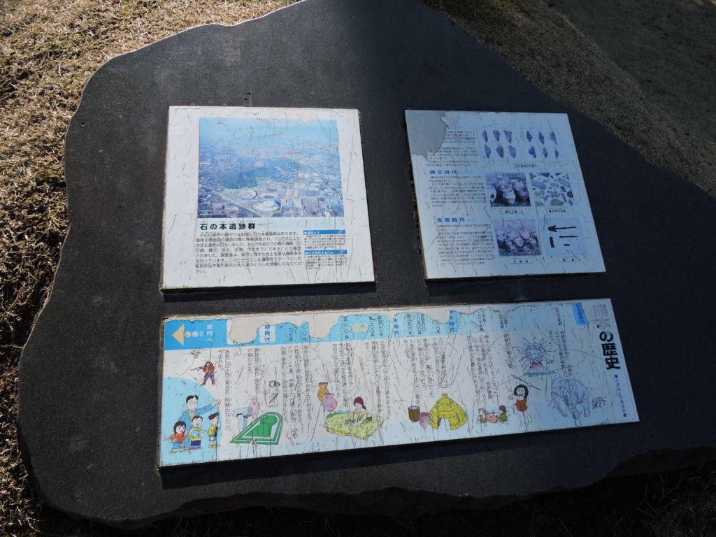 石の本遺跡群 案内板