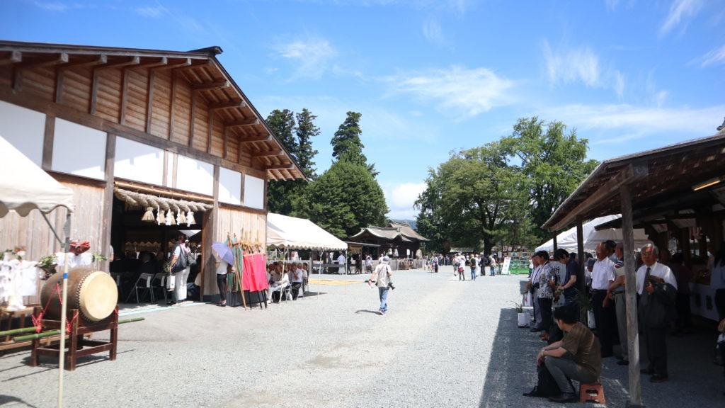 阿蘇神社・仮祭殿