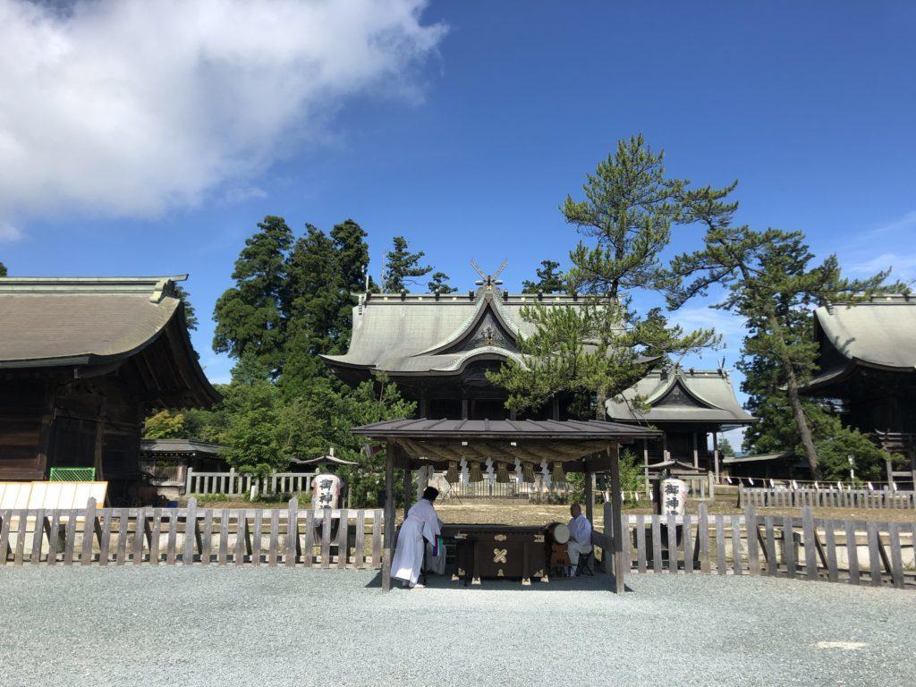 阿蘇神社:拝殿